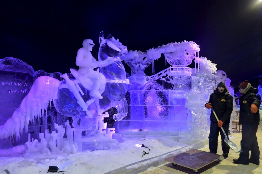 Фестиваль ледовых скульптур в Бельгии