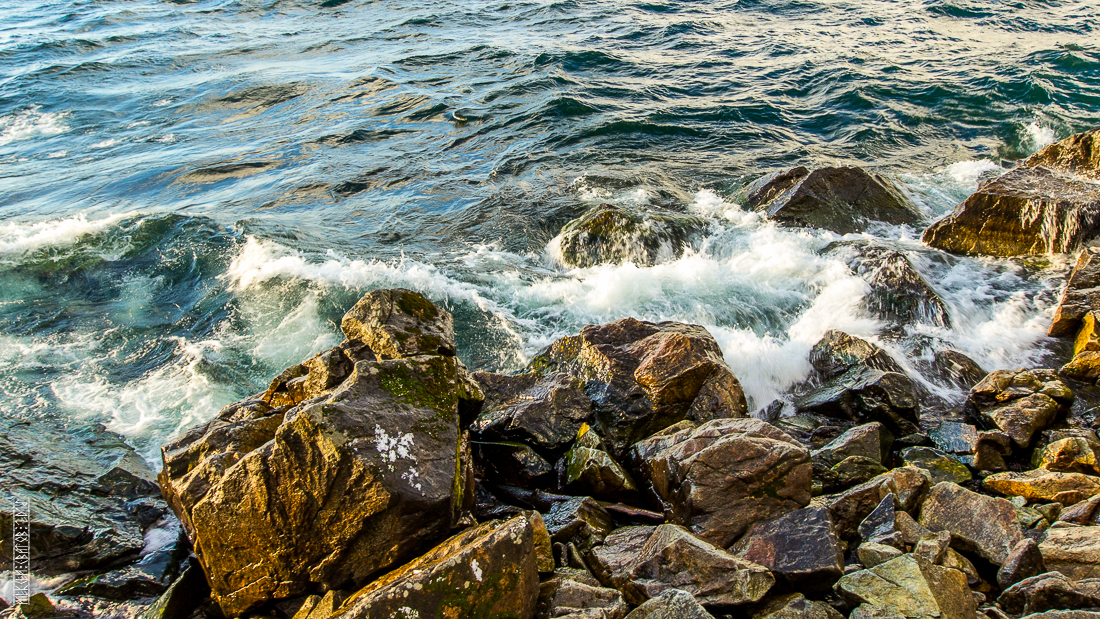 The waves, the snow and rocks of the Baikal 07