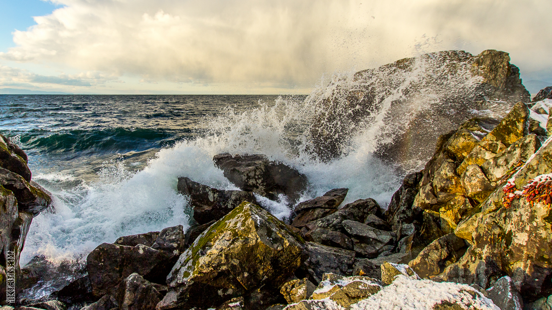 The waves, the snow and rocks of the Baikal 08