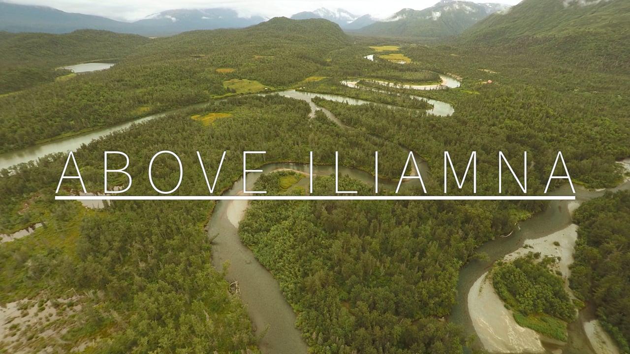 Аляска, озеро Илиамна с дрона