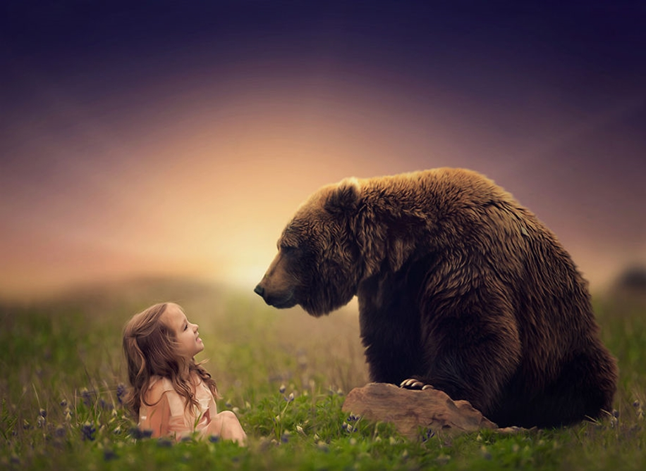 Amazing shots of children and animals from different parts of the world 27