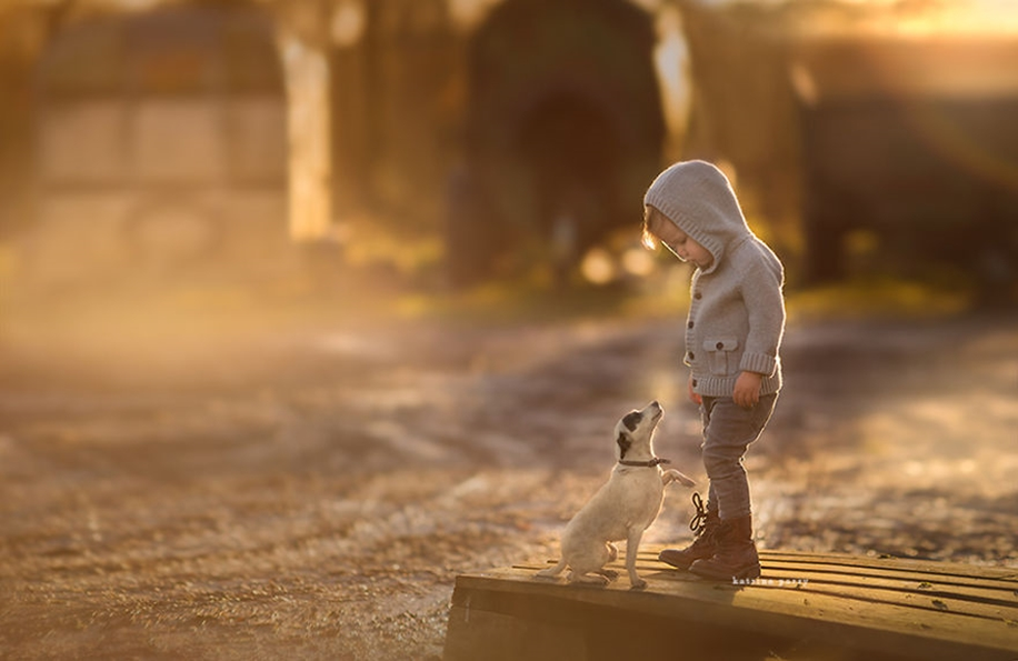 Amazing shots of children and animals from different parts of the world 41