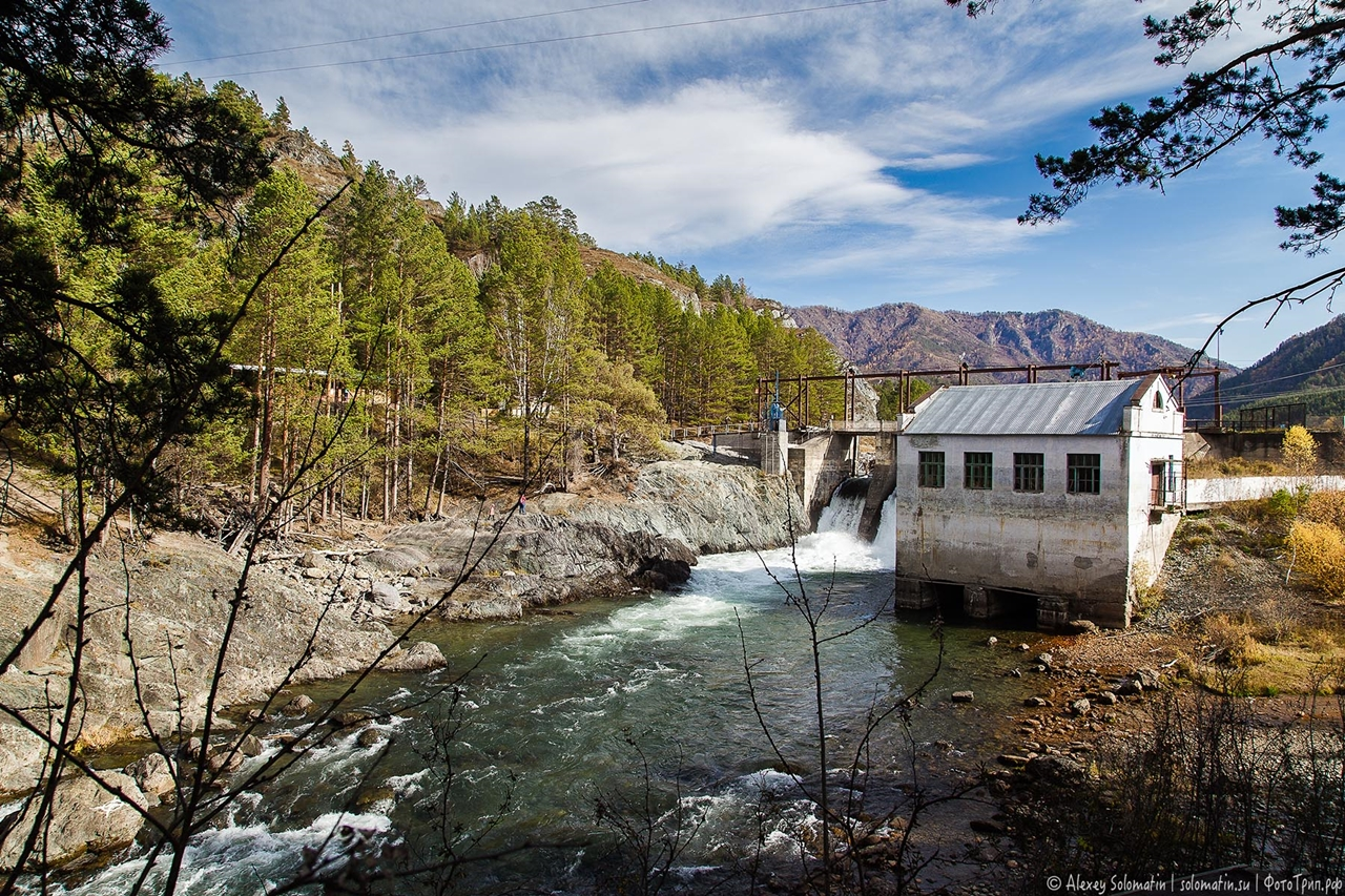 Chemal hydroelectric power station in the Altai mountains 08