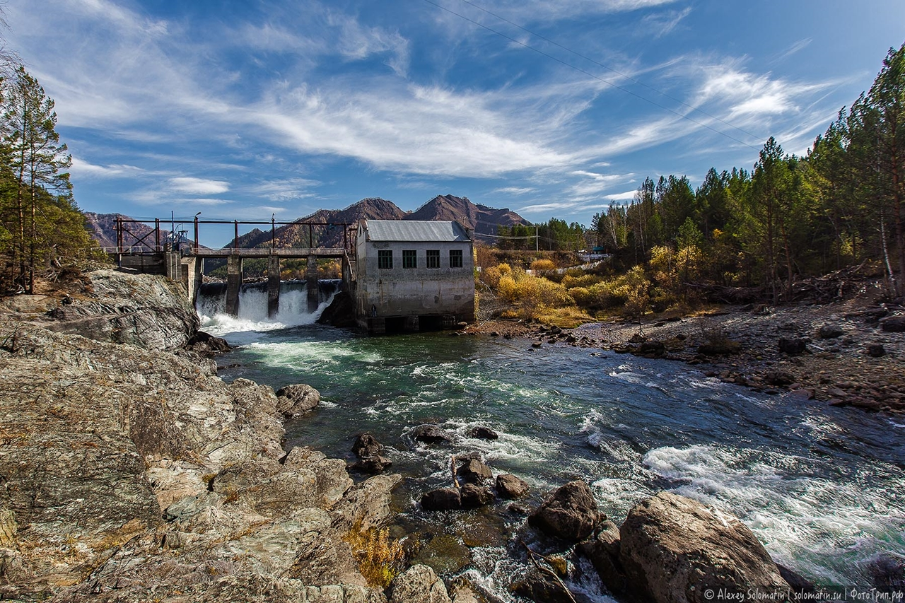 Chemal hydroelectric power station in the Altai mountains 09