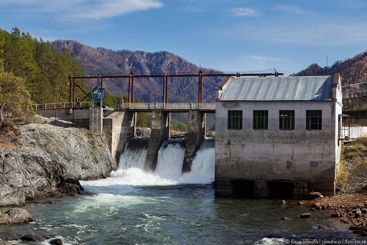 Chemal hydroelectric power station in the Altai mountains 16