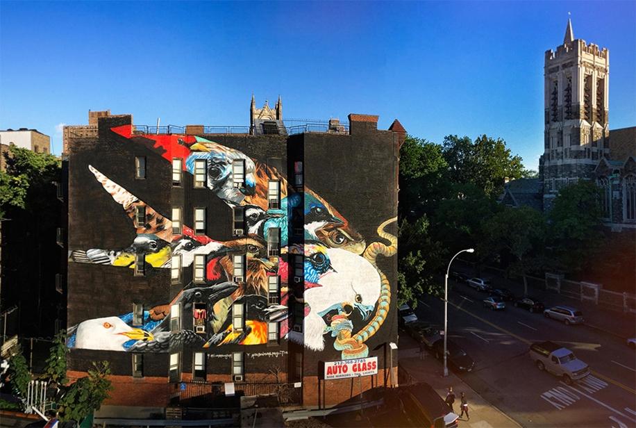 Endangered Birds to the Facades of Manhattan 03