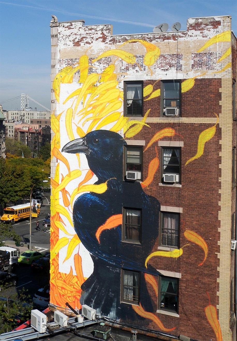 Endangered Birds to the Facades of Manhattan 08