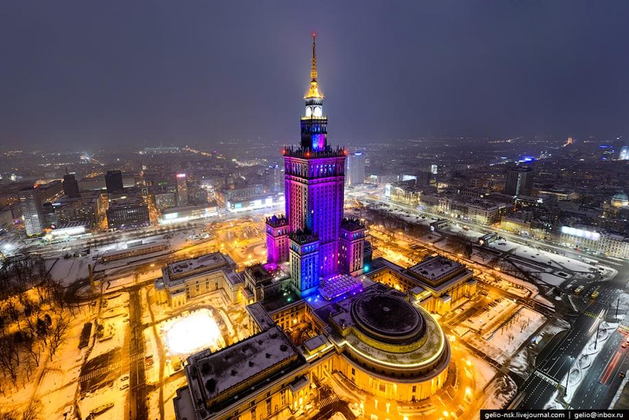 Высотные снимки Варшавы