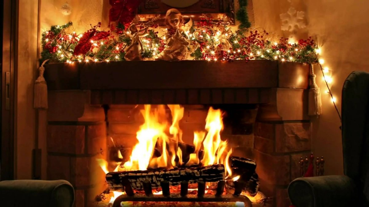 New year images with Christmas trees and fireplaces 08