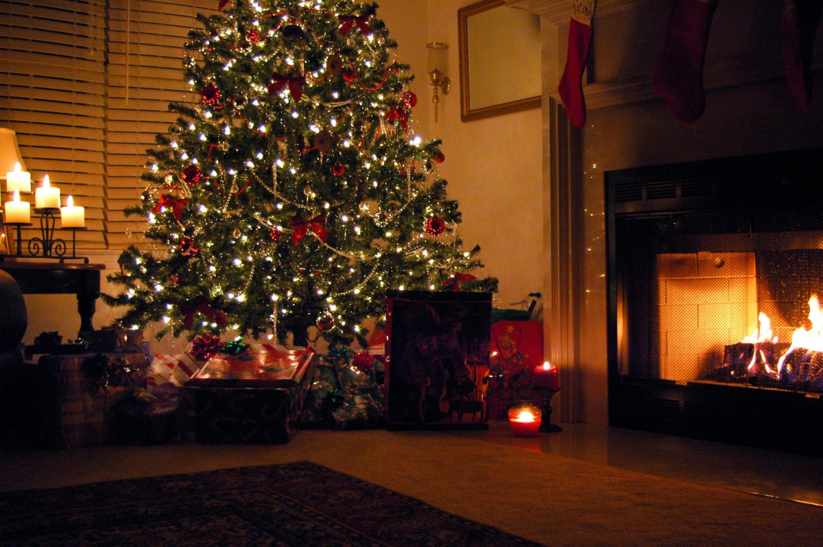 New year images with Christmas trees and fireplaces 16