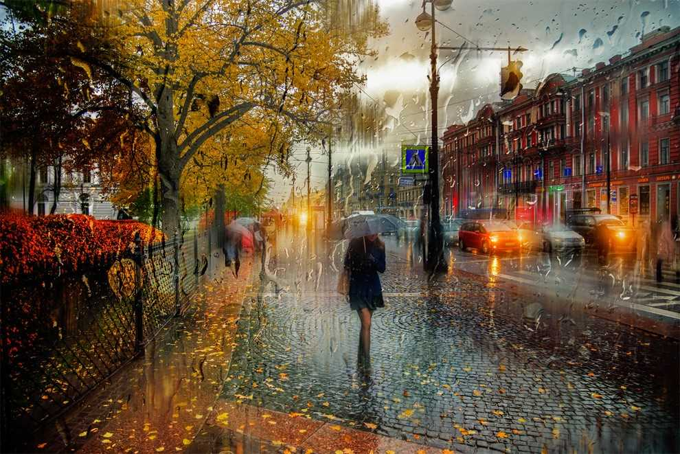 Photos of rainy weather, which look like oil paintings 01