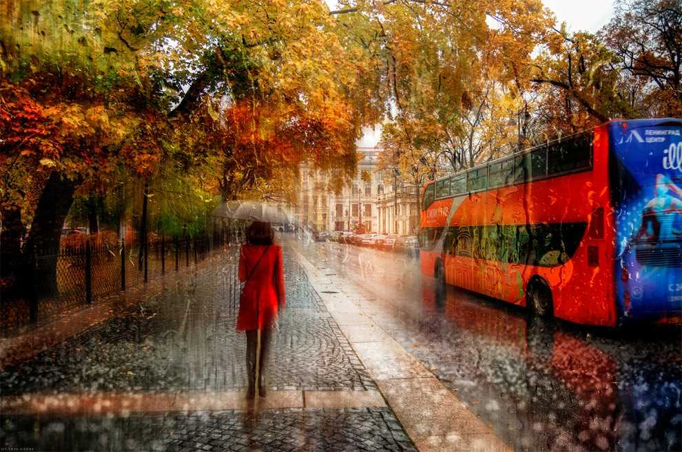 Photos of rainy weather, which look like oil paintings 02
