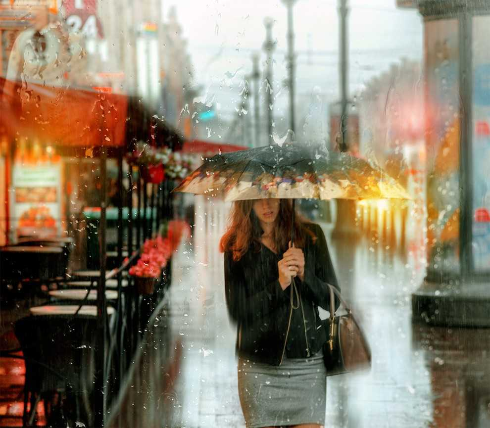 Photos of rainy weather, which look like oil paintings 03