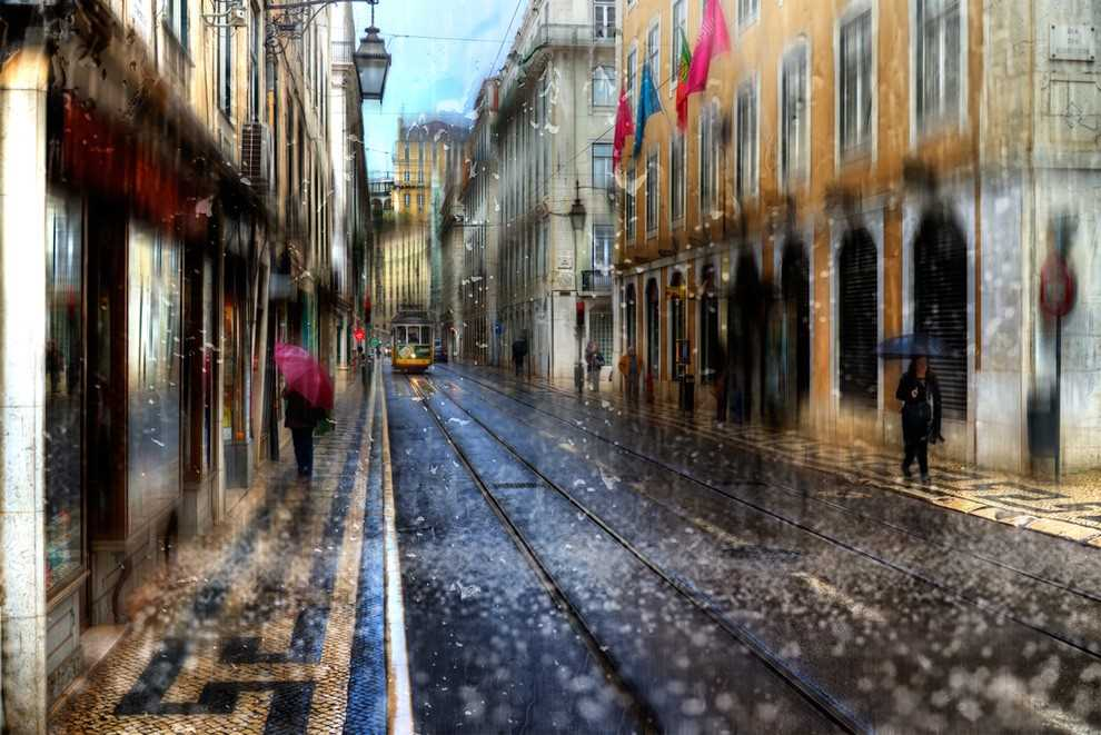 Photos of rainy weather, which look like oil paintings 05