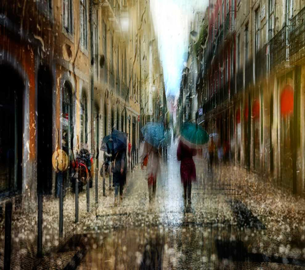 Photos of rainy weather, which look like oil paintings 07