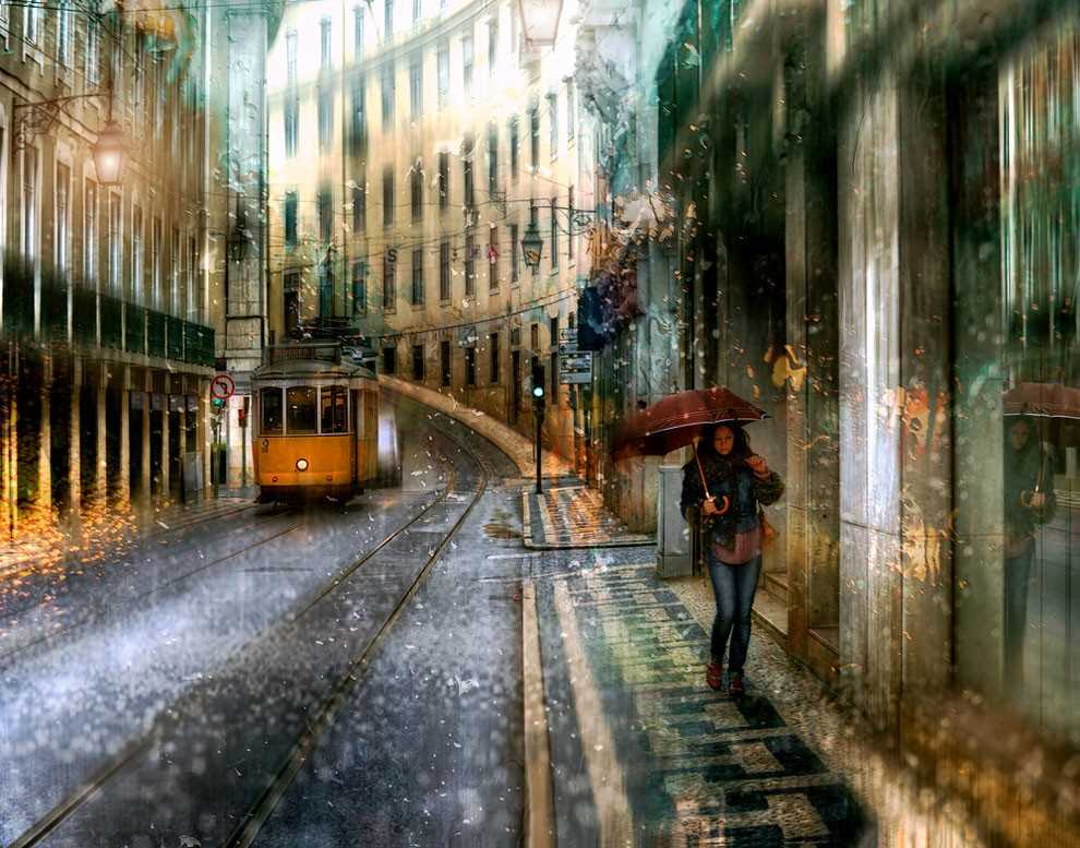 Photos of rainy weather, which look like oil paintings 09