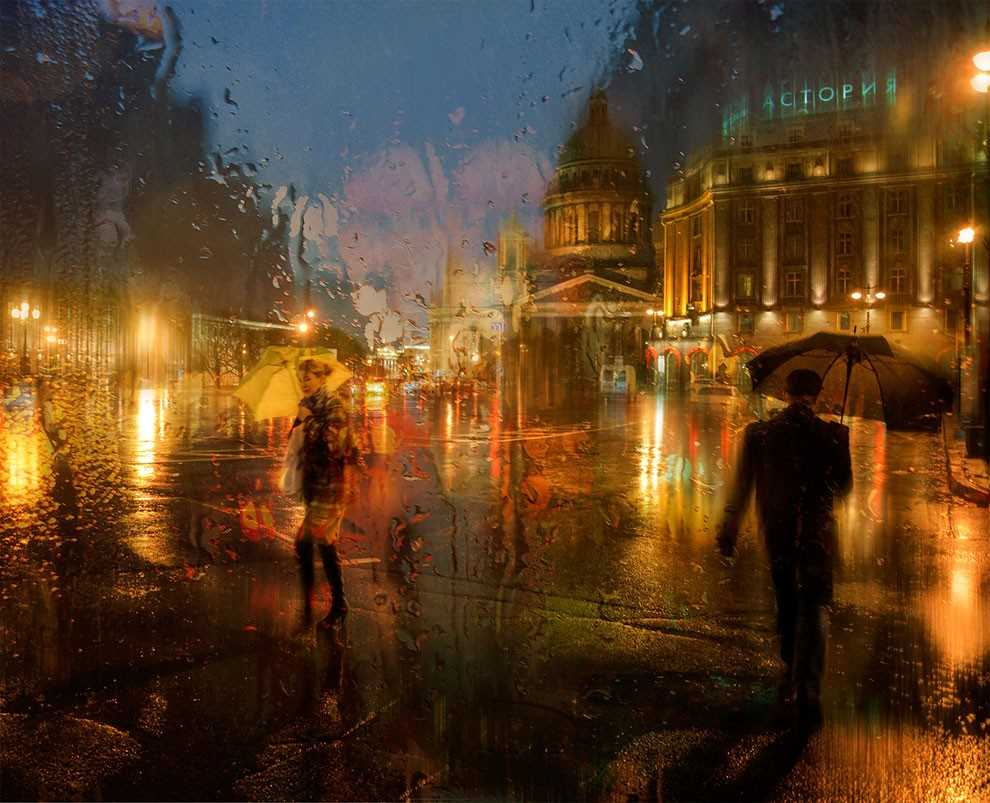 Photos of rainy weather, which look like oil paintings 10