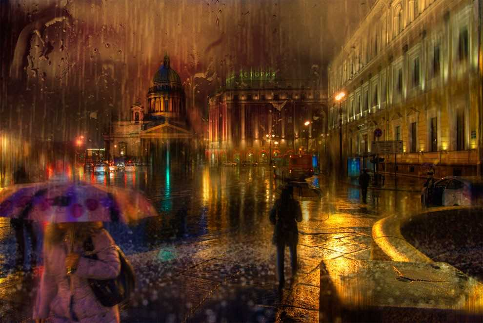 Photos of rainy weather, which look like oil paintings 11