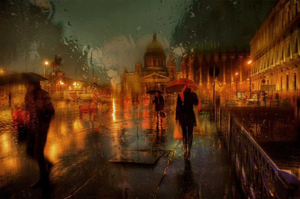 Photos of rainy weather, which look like oil paintings 12