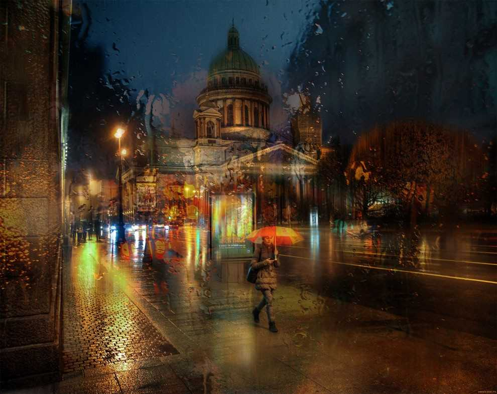 Photos of rainy weather, which look like oil paintings 13
