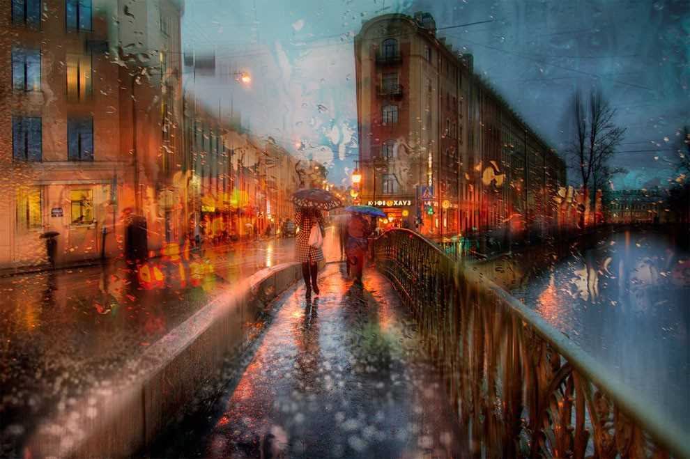 Photos of rainy weather, which look like oil paintings 14