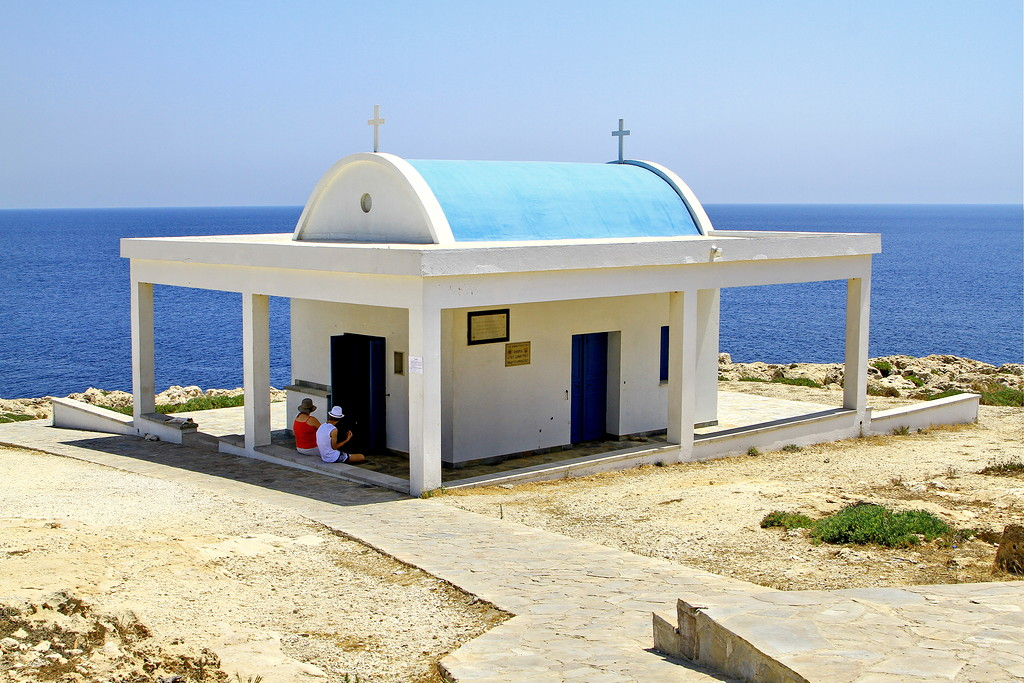 The Church of Agia anargyroi and Konnos beach in Cyprus 02