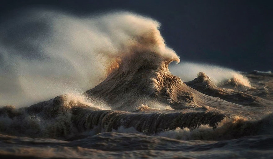 The fury of the waves in the photo Dave Sandford 01
