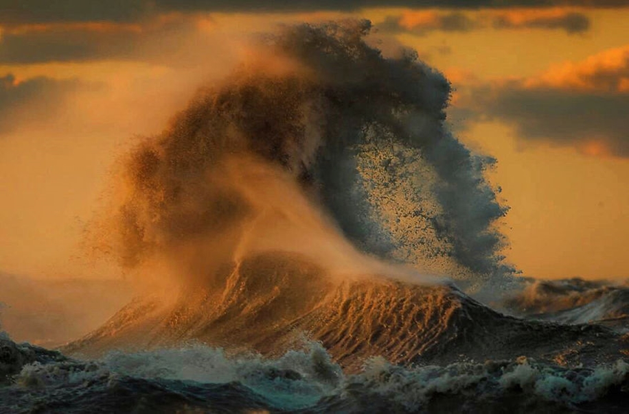 The fury of the waves in the photo Dave Sandford 02