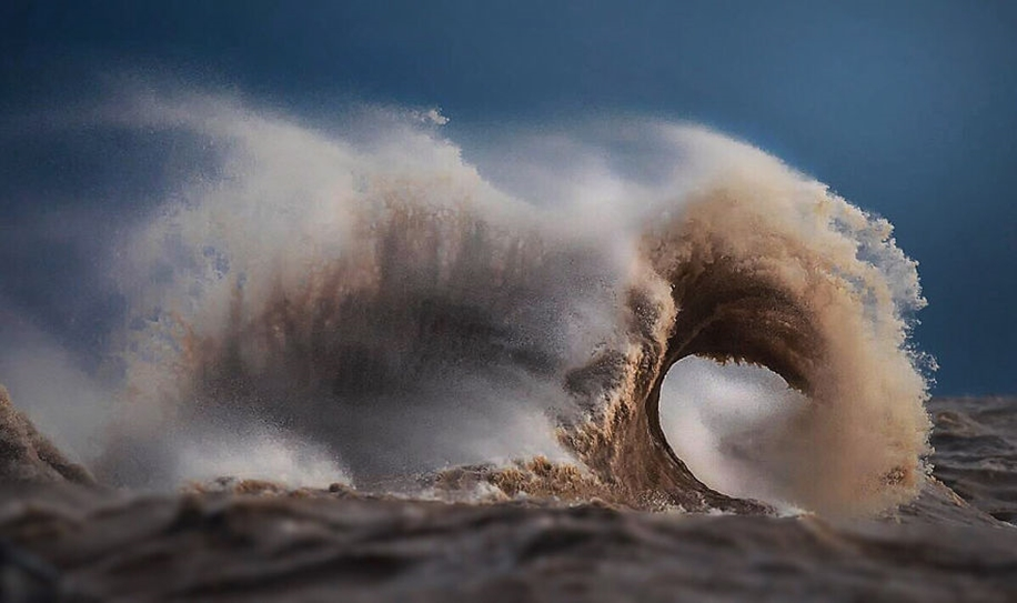 The fury of the waves in the photo Dave Sandford 04