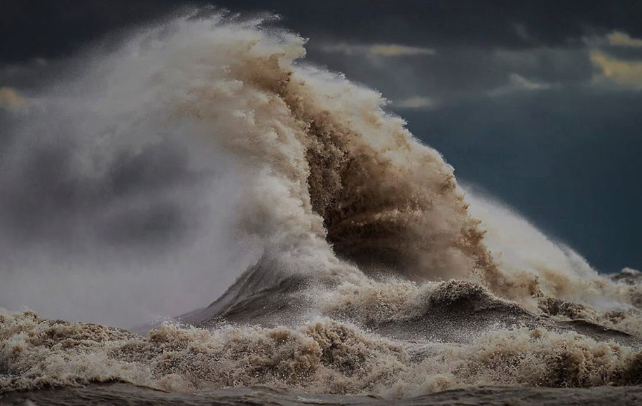 The fury of the waves in the photo Dave Sandford 07