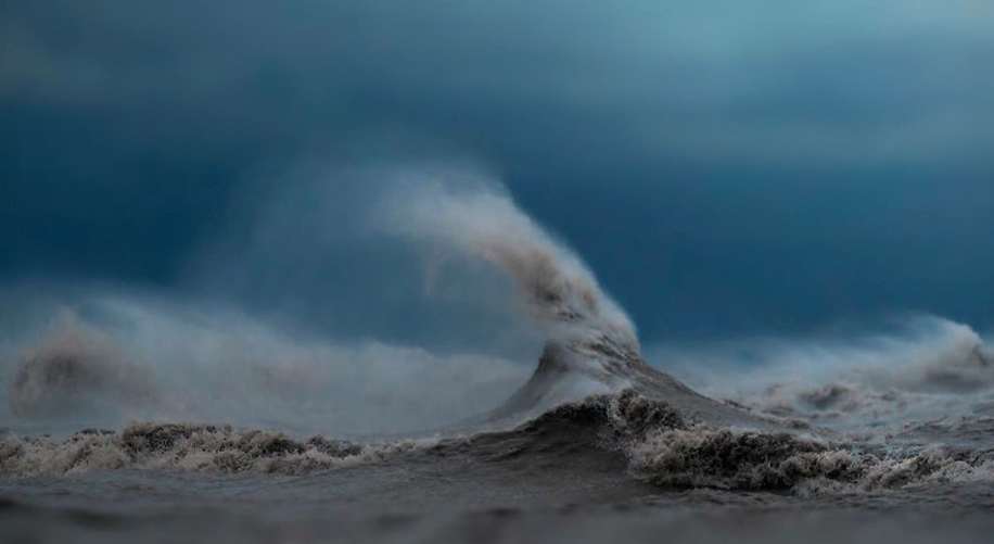 The fury of the waves in the photo Dave Sandford 08