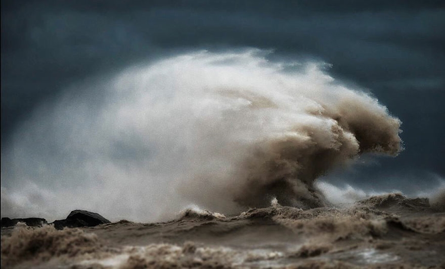 The fury of the waves in the photo Dave Sandford 09