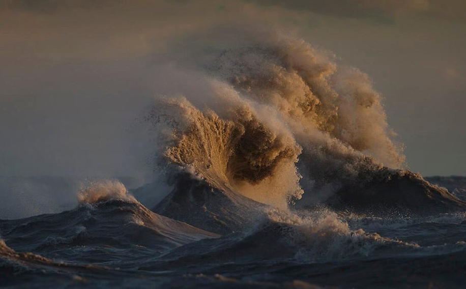 The fury of the waves in the photo Dave Sandford 12