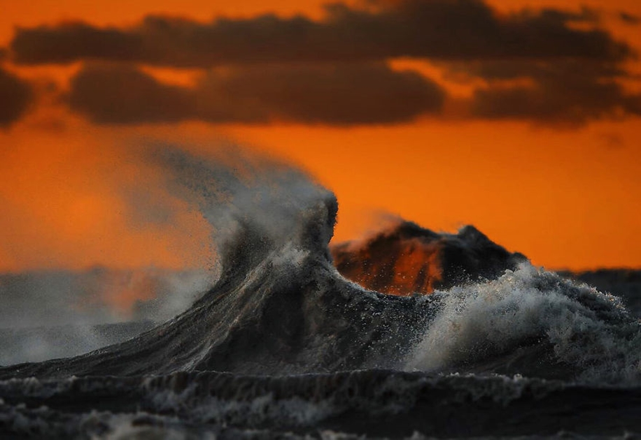 The fury of the waves in the photo Dave Sandford 13