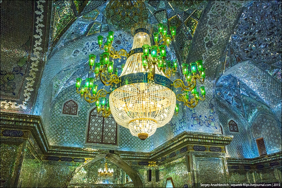 The mausoleum of Shah cheragh in Shiraz Iran 13