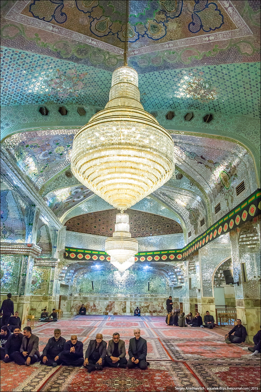 The mausoleum of Shah cheragh in Shiraz Iran 15