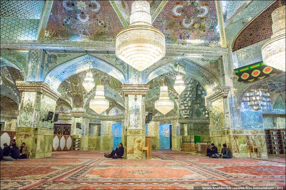 The mausoleum of Shah cheragh in Shiraz Iran 16