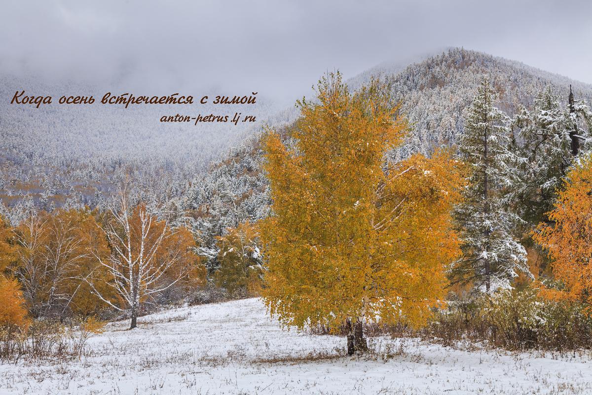 Когда осень встречается с зимой
