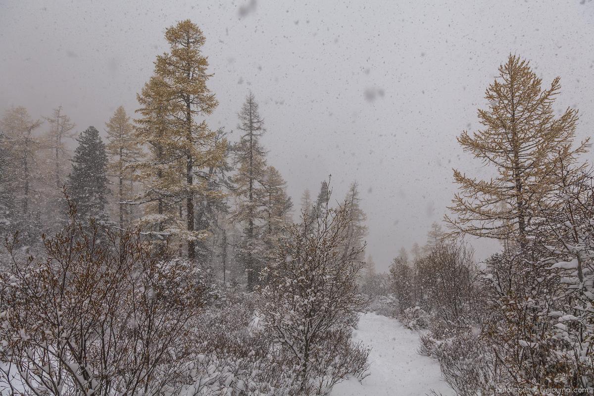 Winter Wonderland in autumn mountains 03