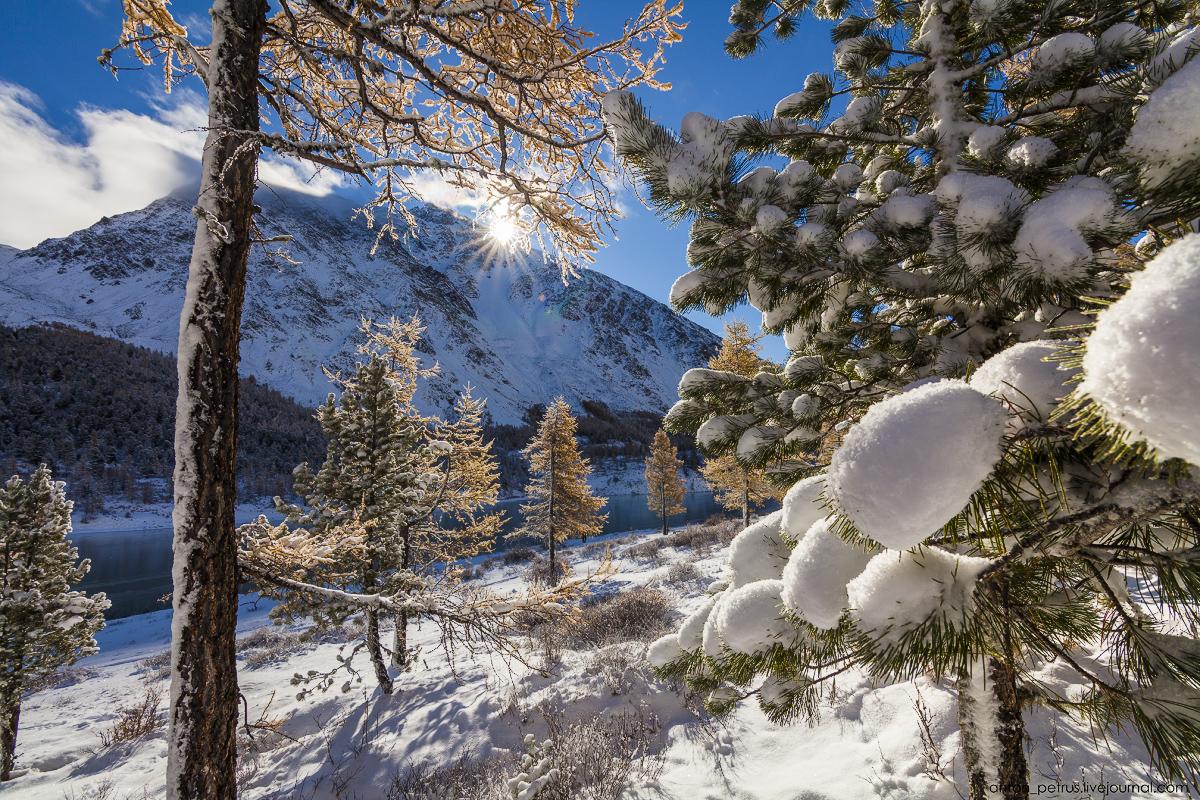 Winter Wonderland in autumn mountains 08