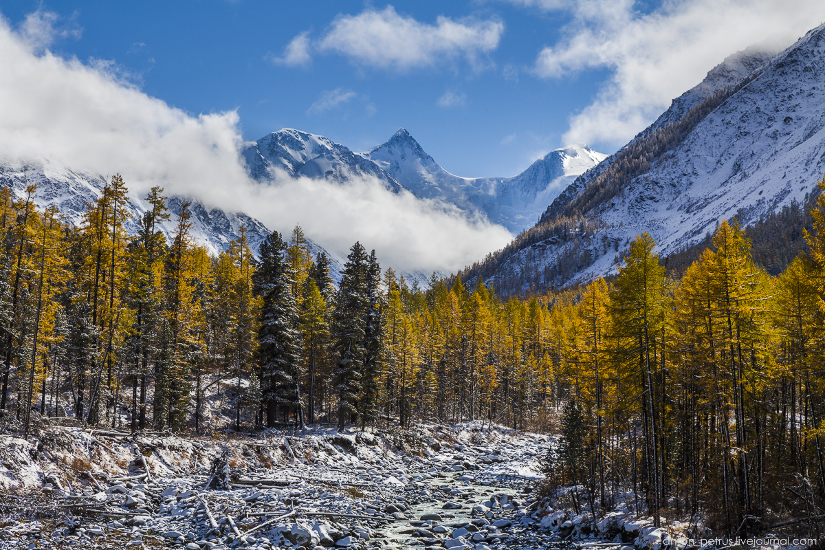 Winter Wonderland in autumn mountains 18