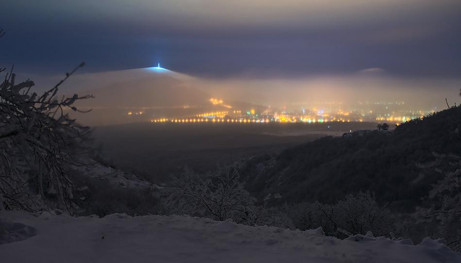 Зима в Пятигорске. Вершина Машука