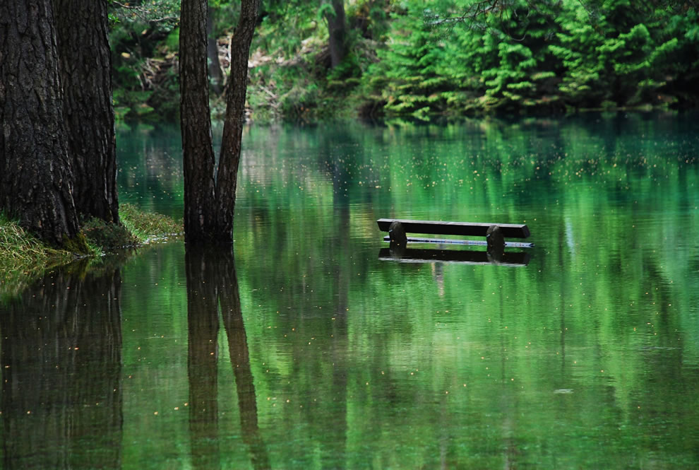 Austrian Park, which every spring turns into a crystal clear lake 03