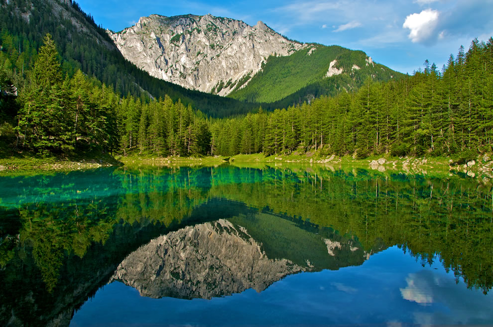 Austrian Park, which every spring turns into a crystal clear lake 07