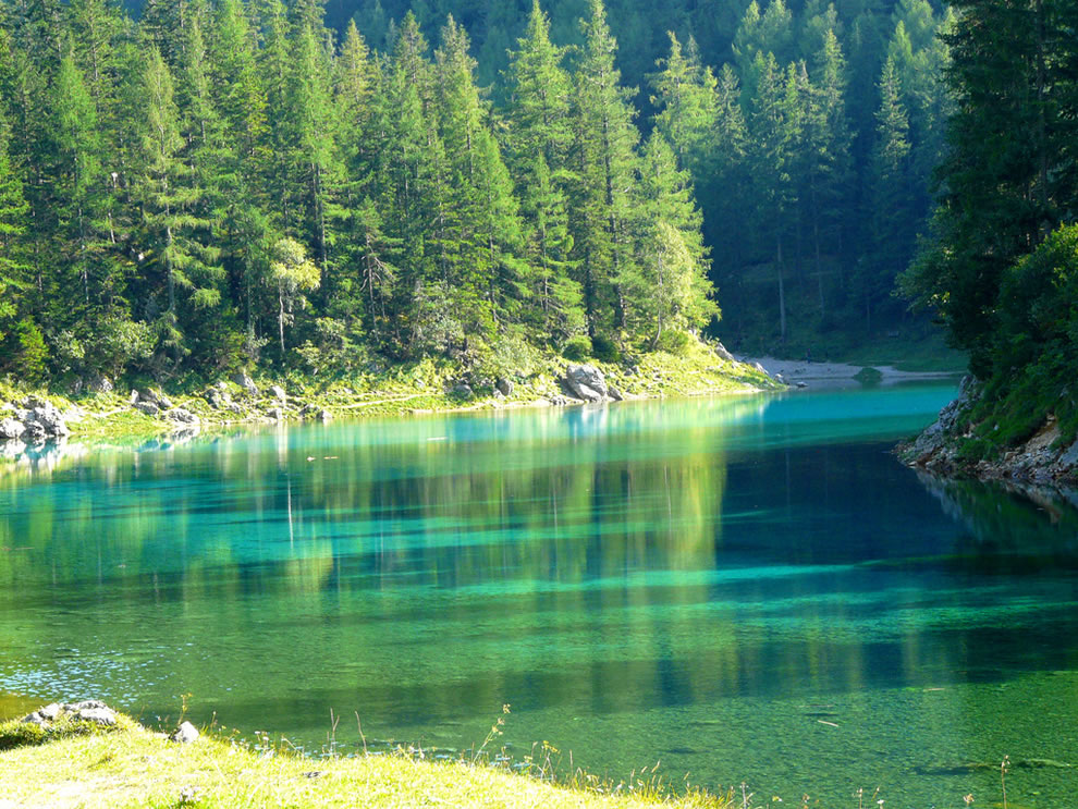 Austrian Park, which every spring turns into a crystal clear lake 10