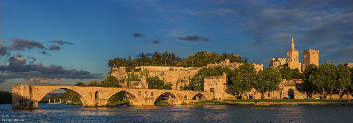 Avignon - the papal Palace About two and a sunset 02