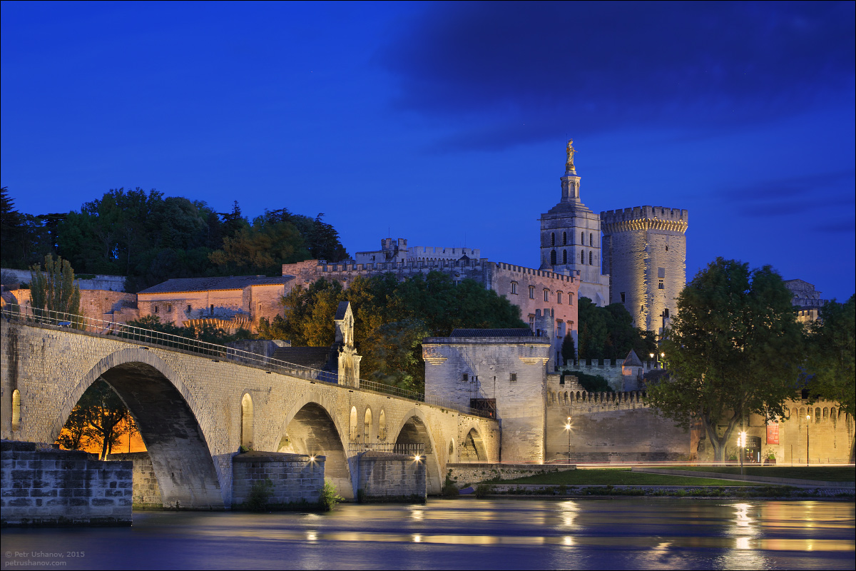 Avignon - the papal Palace About two and a sunset 11