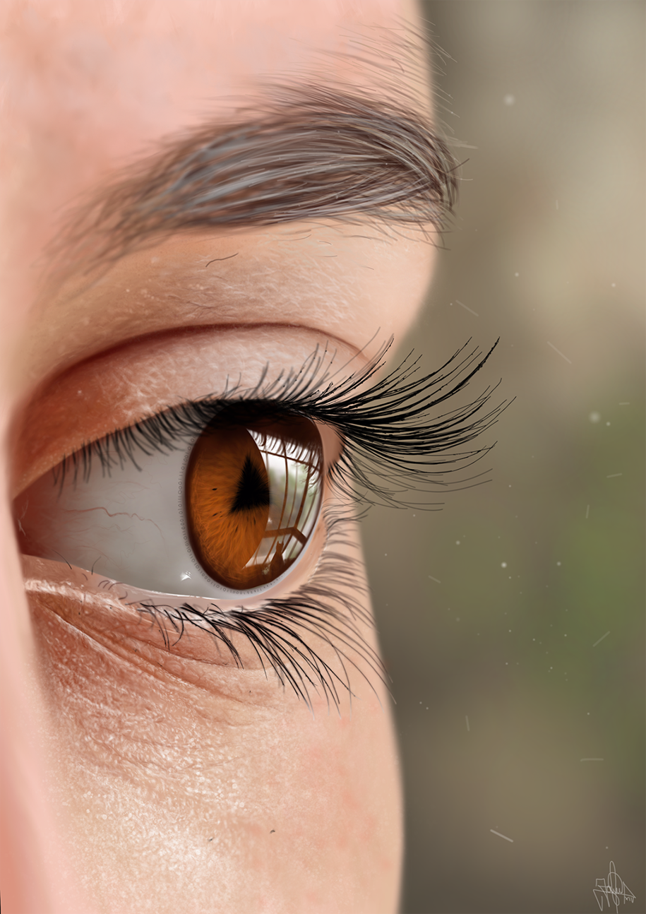 Incredibly realistic paintings created by finger and tablet 20