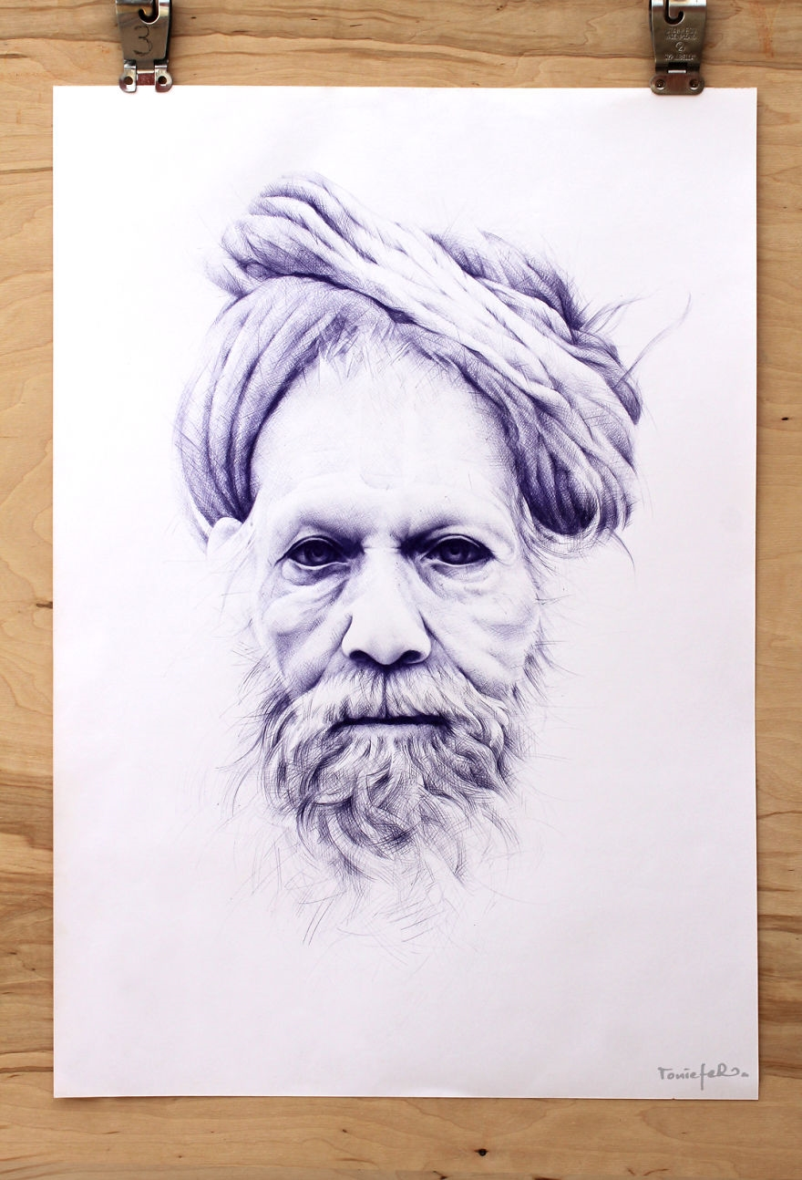The amazing ballpoint pen drawings 06