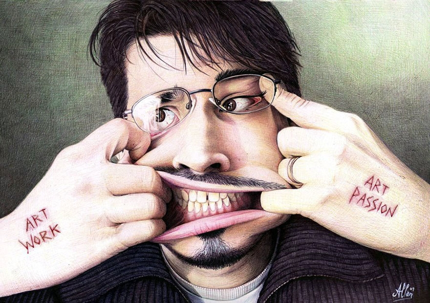 The amazing ballpoint pen drawings 12